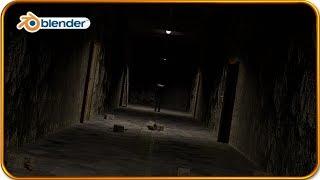 Blender Intro - Horror Themed Long Corridor