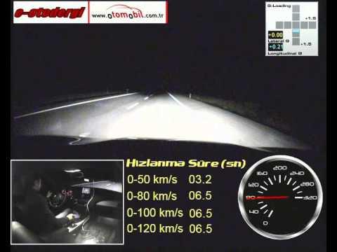 BMW 116d ED test (0-100 km/h, 100-0 km/h)