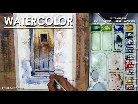 Watercolor Painting : Old Door