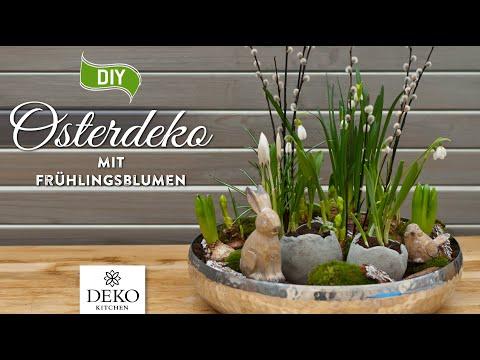 DIY: wunderschöne Osterdeko mit frischen Frühlingsblumen selbermachen [How to] Deko Kitchen