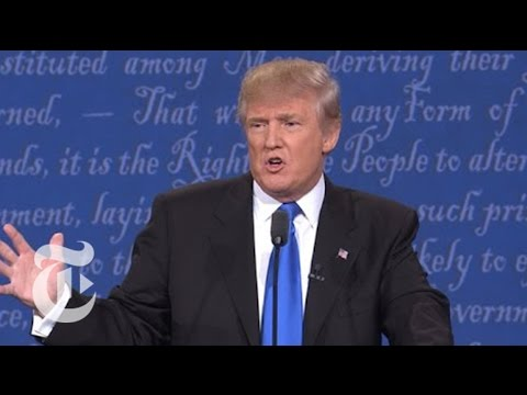 Trump Talks Taxes And Clinton's Emails | Election 2016 Presidential Debate | The New York Times