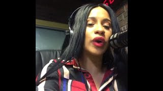 "Cardi B Spits the Latin Version of ""Bodak Yellow"" on Radio Mega 97.9 FM"