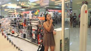 "amazing Celine dion ""Alone"" in mall (Vianca Mae)"
