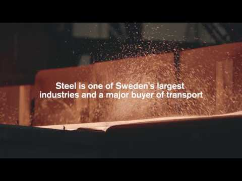 Effektiva transporter för stålindustrin med Green Cargo