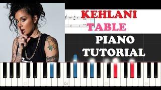Kehlani ft. Little Simz - Table (Instrumental Piano Tutorial )