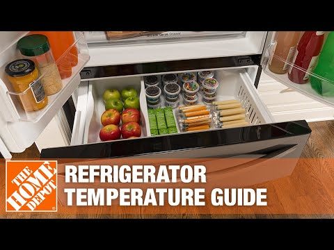 A refrigerator with a water and ice dispenser.