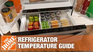 A video reviews the ideal refrigerator temperatures for a variety of foods.