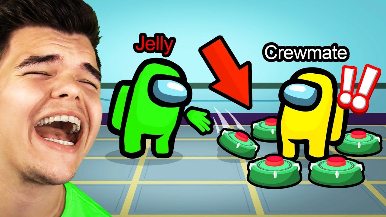 Jelly - TROLLING WITH MINES In AMONG US!