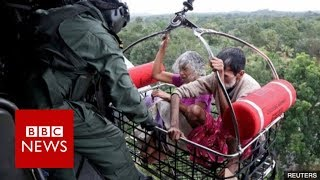 India Floods: Rescue operation in Kerala flooding - BBC News width=