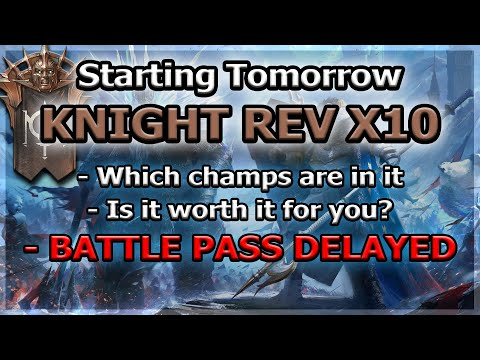 RAID Shadow Legends | KNIGHT REV x10 TOMORROW | BATTLE PASS DELAYED?!