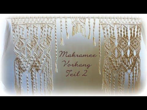 Makramee Vorhang Teil 2 * DIY * Macrame Curtain [eng sub]