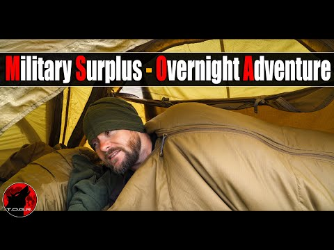 🎖️Overnight Camp in the World's Rarest Military Tent