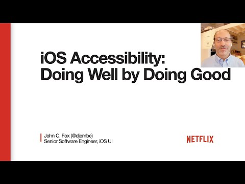 Accessibility for iOS: doing well by doing good
