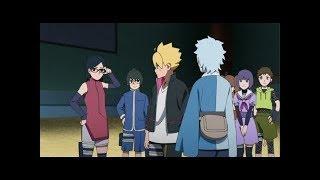 Mitsuki le dice a Boruto y Sarada que hacen buena pareja   Sub Español