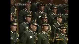"Russian folk song ""Kalinka"" (Калинка) - chinese military choir"