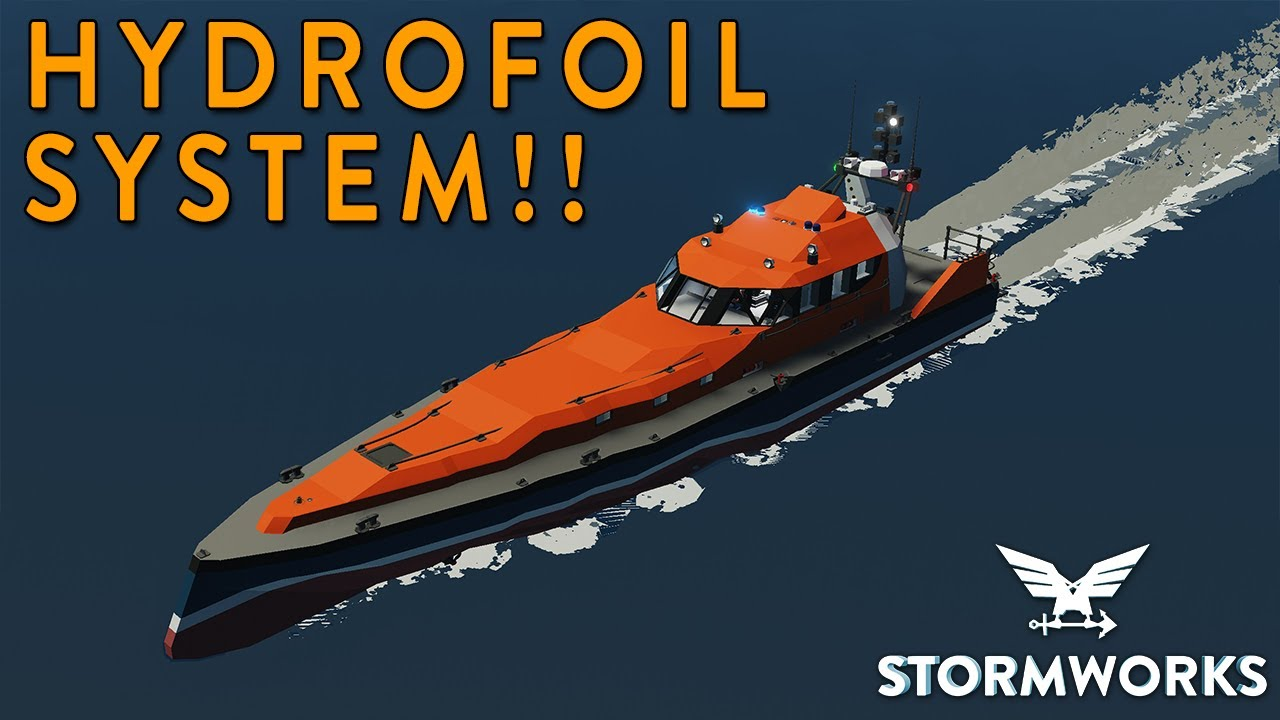 MrNJersey - HYDROFOIL SYSTEM!!! - SAR Boat Build - Part 8 - Stormworks
