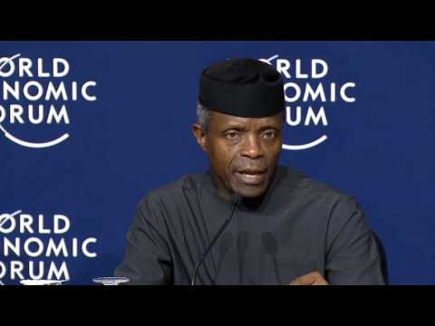 Davos 2017 - Press Conference with the Vice President of Nigeria
