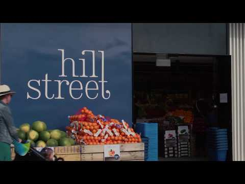 Buyers from City Super in Hong Kong check out Tasmania's favourite food store Hill Street Grocer