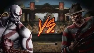Mortal Kombat 9   Kratos VS Freddy Krueger