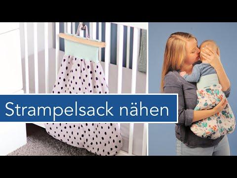 Baby Strampelsack nähen zum Wenden | #HarryStrampel aus dem #DIYeuleBabyBuch