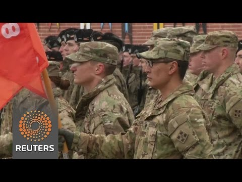 US troops welcomed to Poland as part of NATO show of force