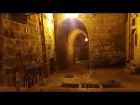 صلاة الفجر 17-1-2017 والسير في ازقة وحارات المسجد الاقصى المبارك
