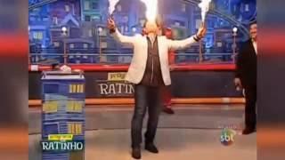 Пожар в прямом эфире во время шоу Ratinho. Fire in live during the show Ratinho