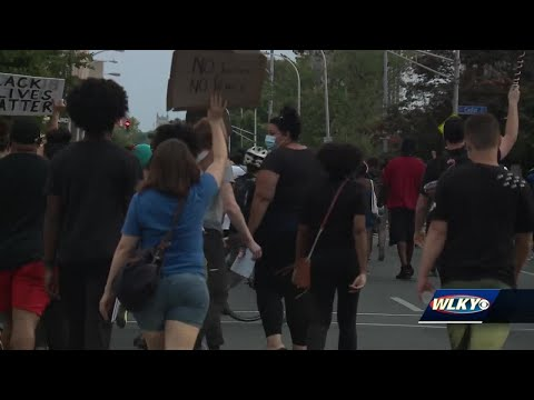 Night 74 of protests in Louisville