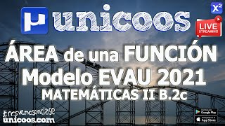 Imagen en miniatura para LIVE!!! Modelo EvAU 2021 - Matemáticas II 11- Ejerrcicio B.2c - Área de una función