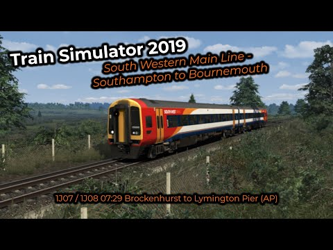 1J07 / 1J08 07:29 Brockenhurst to Lymington Pier (AP) -- Livestream 28/07/2019