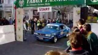 RX3 on start Targa Tasmania 06