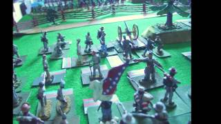 ACW mega wargame battle in 54mm Red Baron Convention Ghent