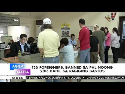 133 foreigners, banned sa Pilipinas noong 2018 dahil sa pagiging bastos