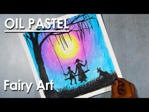 Oil Pastel Fairy Art  | Dream sequence brother and sister