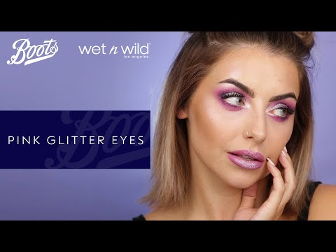 boots.com & Boots Discount Code video: Festival make-up: Pink glitter look with Wet n Wild