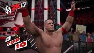 WWE 2K17 Top 10 movimientos sobre la mesa