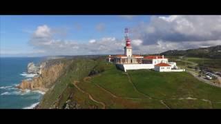 Westernmost place in Europe - Cabo da Roca and Praia da Ursa - aerial video - DJI Phantom 3 Standard