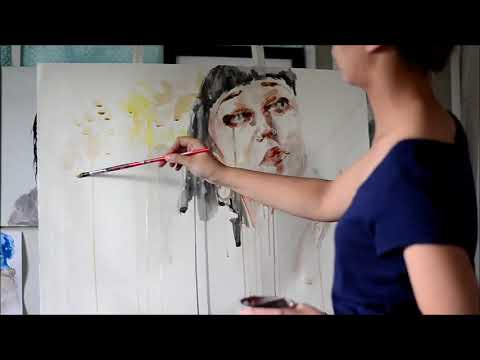 Speed Up Watercolor Portrait Painting - Typecast