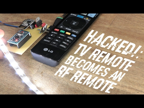 HACKED!: TV Remote becomes an RF Remote || nRF24L01+
