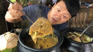 MASSIVE BEEF BONE Soup Insane FILIPINO Food at Tagaytay Philippines width=