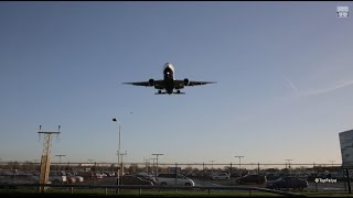 London Heathrow Airport time-lapse spotting under the glide slope