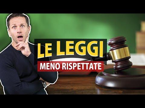 Le LEGGI italiane MENO RISPETTATE | Avv. Angelo Greco