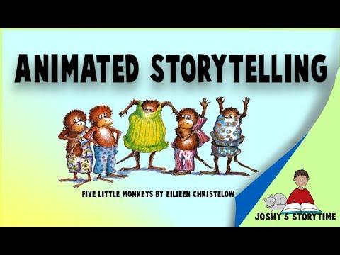 (Animated) Five Little Monkeys by Eileen Christelow - YouTube