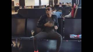 Tekno dancing  at  Denmark airport