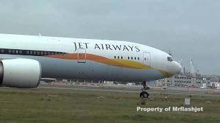 Jet Airways 777-35RER {VT-JEL} HEATHROW FLIGHT DEPARTURES Plane Spotting Guide