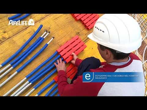 PIPELIFE SLAB-16 Födémfűtő és -hűtő rendszer szerelése