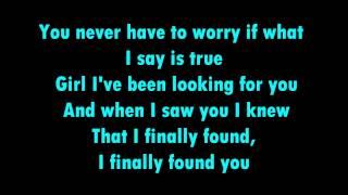 Finally Found You - Enrique Iglesias ft. Sammy Adams with lyrics
