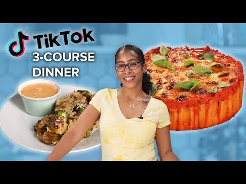 I Made A 3-Course Dinner Using TikTok Recipes