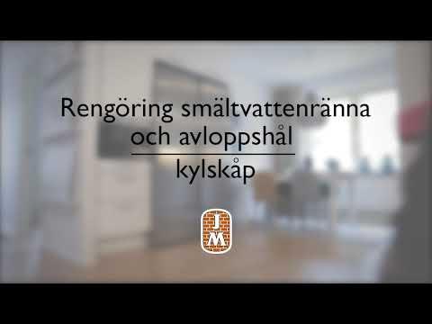 Rengör kylskåp (smältvattenränna och avloppshål)