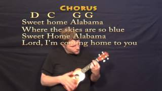 Sweet Home Alabama - Soprano Ukulele Cover Lesson with Chords, Lyrics